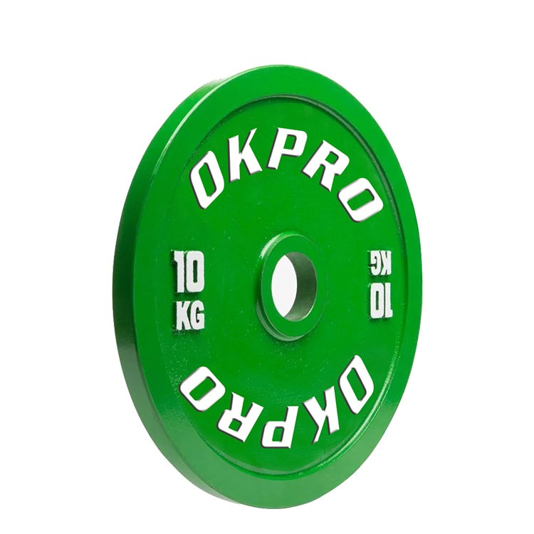 Gym Weight Plate OKPRO Fitness Powerlifting Calibrated Plate
